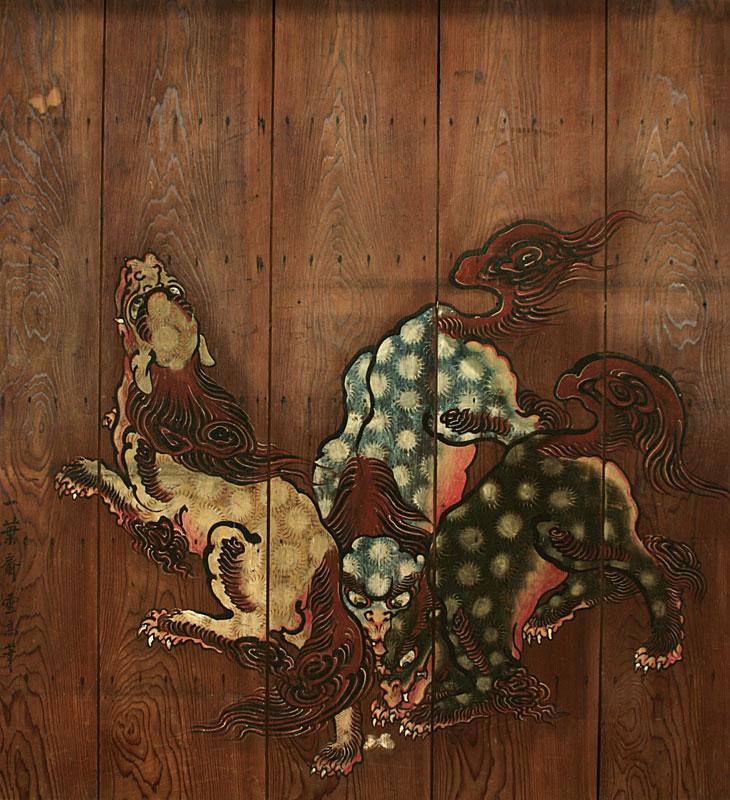 「麒麟」狩野探圳の高弟一葉斎雪高画
